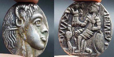 Solid Silver Old Lovely Roman King Wonderful Giant Coin 32.26Grams # Sh0350