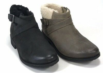 922fee7f064 UGG WOMEN'S BENSON Waterproof Leather Dove / Gray or Black Pull-on Ankle  Boots
