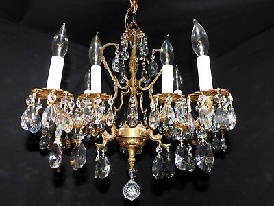 Antique brass chandelier 10 lights quality  crystals