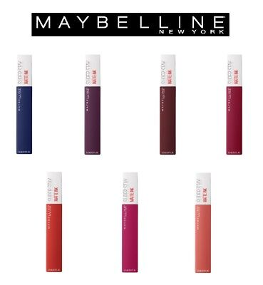 Maybelline Superstay Matte Ink City Edition Liquid Lipstick Makeup WORLD SHIP