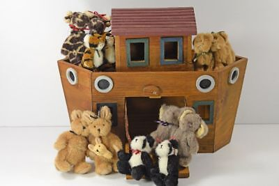 Boyds Bears Noah's Wooden Ark with Some Animals