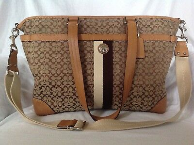 354daff95 ... denmark authentic coach large brown diaper bag tote handbag 418a3 dddee
