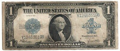 Series of 1923 Large SILVER CERTIFICATE Note $1