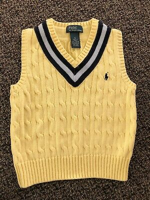 Polo By Ralph Lauren Toddler Boys Vest. Size 5.