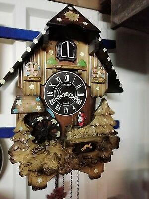 Large Musical Cuckoo Clock. Battery movement. G.W.O.