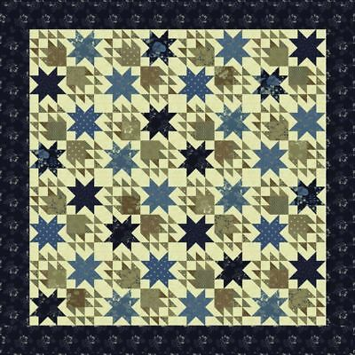 Quilt Pattern DRESDEN BEAUTY Moda PLANTED SEED Fat Eighth Friendly