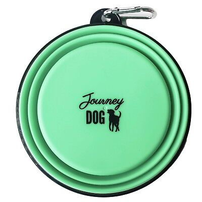 Dog Travel Bowl JOURNEY DOG Collapsible Eco Friend Portable Dish Pet Food Water