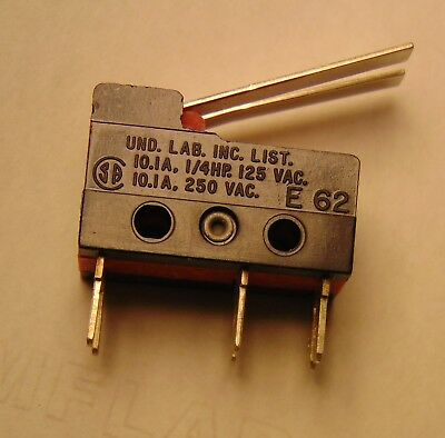 SPDT Cherry E62 Microswitches rated 10A & NO and NC contacts ganged