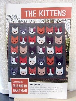 Quilt Pattern THE KITTENS Elizabeth Hartman 2015 Darling Cat Quilt