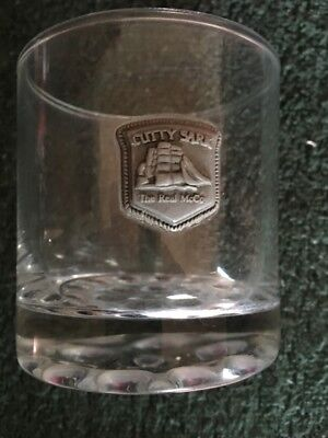 Cutty Sark Scotch Whisky Drinking Glass Old Rare Vintage The Real McCoy