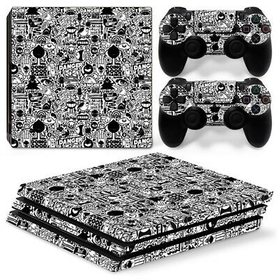 Danger game For Sony playstation PS4 PRO Console Stickers & 2 Controllers Skin