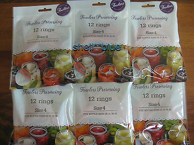 6 dozen Fowlers Vacola  Preserving Rings size 4  BRAND NEW