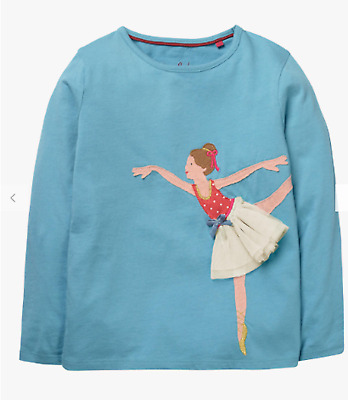 Mini Boden girls top tshirt 2 3 4 5 6 6 7 8 9 10 11 12 years ballerina RRP $34