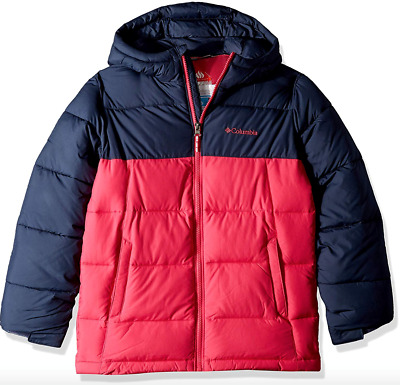 Columbia Boys Pike Lake Jacket L(14/16)   XL(18/20) Omni Heat Hooded Winter Coat