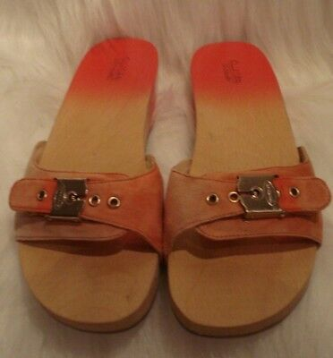 Original Collection DR SCHOLLS Red Ombre Exercise Sandals With Ombre Suede  Sz 7 044452a4ffc