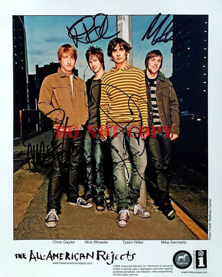 All American Rejects Signed 8x10 Autographed Photo Reprint