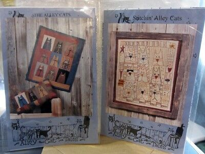 2 Quilt Patterns ALLEY CAT TALES Stitchin' Alleycats 1998 The Alleycats 1995