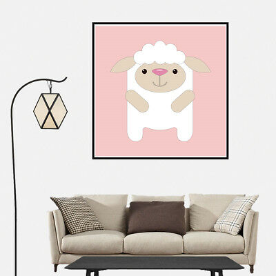 Cartoon Lovely Sheep Canvas Art Painting Poster Home Wall Nordic Decor Unframed