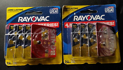 Rayovac Hearing Aid Batteries Size 10 1.45V  24-Pack ( 2 Pks-Total 48 Batteries)