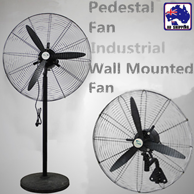 75cm Pedestal Fan / Wall Mounted Industrial Oscillating Floor/Hanging TFAN575
