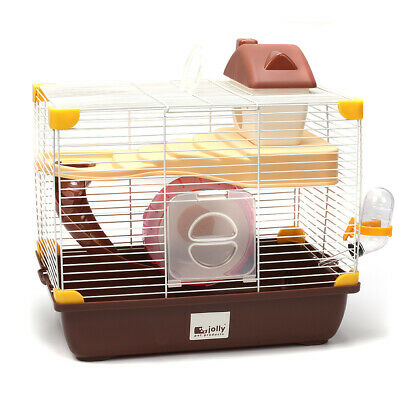 Jolly Design-New Chocolate Factory Medium Hamster with Cage Wheel Bottle House