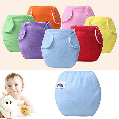 Baby Newborn Diaper Cover Adjustable Reusable Nappies Cloths Wrap New Diapers
