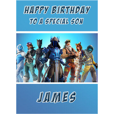 Fortnite Birthday Card - Personalised Any Name, Age, Relation