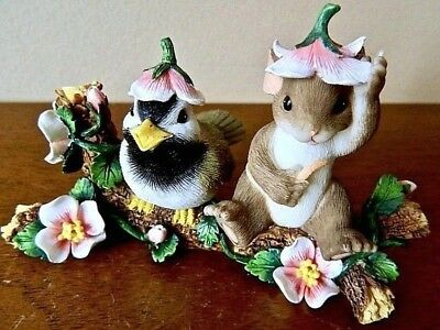 """Charming Tails """"You're a Wonderful Bud"""" Figurine 88/130 by Fitz and Floyd"""