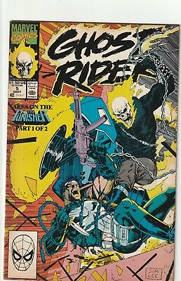 Ghost Rider Volume Ii  #5  The Punisher Jim Lee Cover  Marvel  1990  Fn
