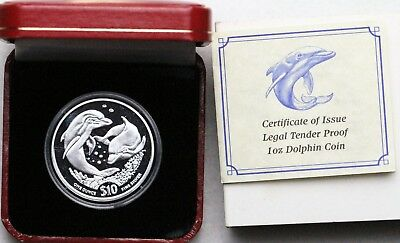 2006 $10 British Virgin Islands Silver Dolphin Proof 2004 / 2005 Available Also!