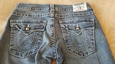 True Religion womens jeans 27 long STRAIGHT Studded EUC $115