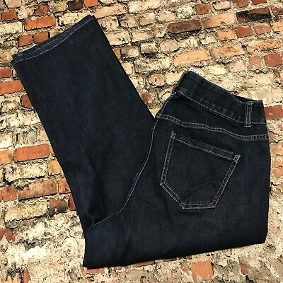 Lane Bryant Straight Leg Womens Size 14 Short Blue Dark Wash Stretch Jeans #5B39