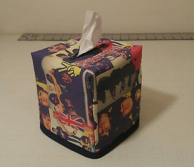 "New!!  ""The Beatles"" Tissue Box Cover Handmade"