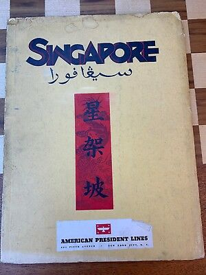 1933 Singapore Travel Promotion Book 112 pages Oversize