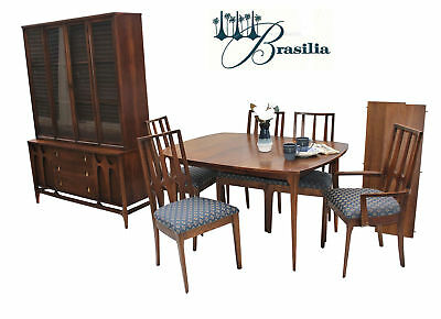 89feab4140ae Broyhill Brasilia 12pc Mid Century Modern Walnut Dining Room Set Table  Chairs