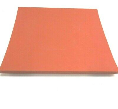 "Silicone Rubber Sheet 4x6x1//4 Thick High Temp Solid Red//Orange Grade 4/"" x 6/"""