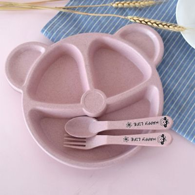Feeding Food Tableware Lovely Panda Kid Dishes Baby Eating Dinnerware Set