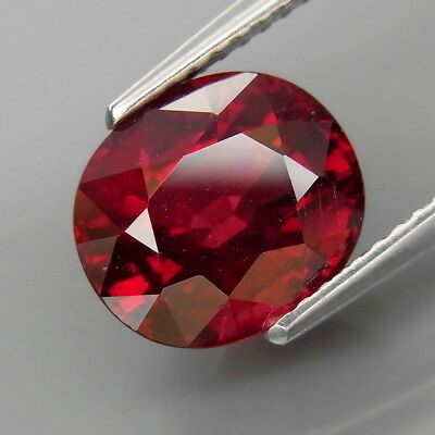 4.88Ct.Very Good Color&Full Fire! Natural Cherry Red Rhodolite Garnet Africa