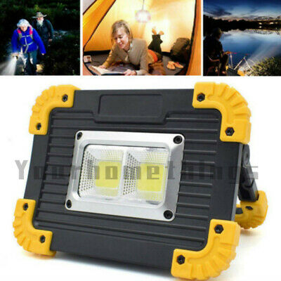 20W COB LED Portable Work Light Emergency USB Rechargeable Flood Lamp Outdoor