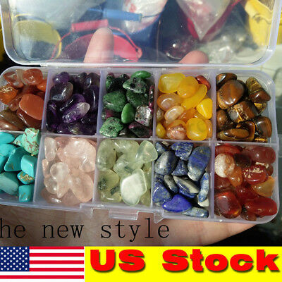 Ten kinds Rough Natural + Tumbled Stone Set(Raw Gem Crystal Healing Rock) USA