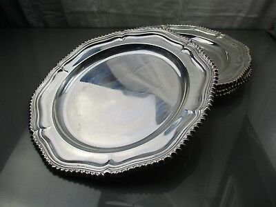(4) Lot Antique Sheffield-plated CHARGERS Matthew Boulton Plate Co.