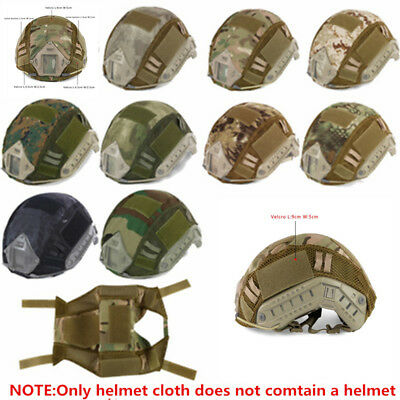 Camo Nylon Fabric Cloth Cover for Sport Paintball Tactical Combat Fast Helmet 1x