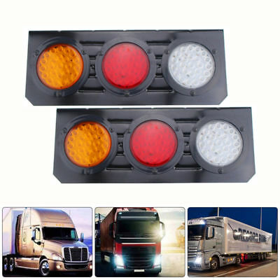 2X Led Tail Lights Truck UTE Trailer Stop Indicator 12V Pair Waterproof OZ
