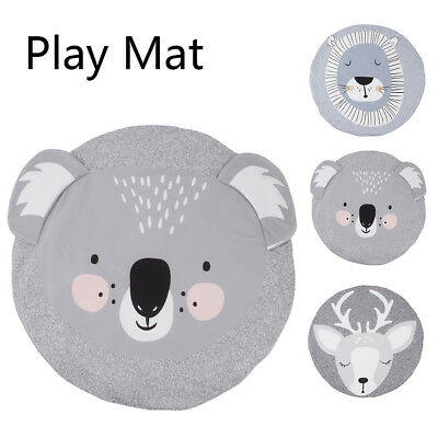 Baby Thick Round Soft Play Mat Infant Cotton Cushion Kids Seat Pad Floor Rug CA