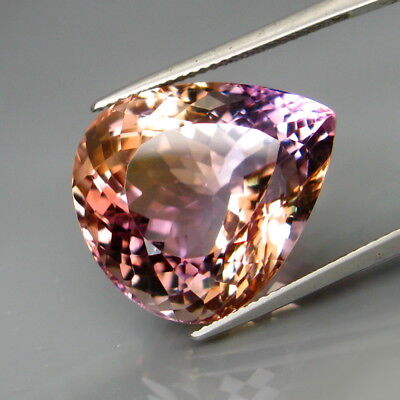 26.31Ct.Real! Natural HUGE Purple&Golden Bolivia Ametrine Full Spark&Eye Clean!