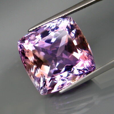 26.88Ct.Real 100%Natural HUGE Purple&Golden Bolivia Ametrine Full Fire&Eye Clean