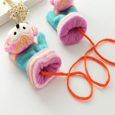 Fashion Autumn Winter Baby Gloves Warm Kid Boys Girls Animal Shaped Soft Mittens