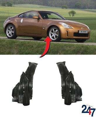 New Nissan 350Z 03-05 Front Wheel Inner Fender Rear Side Splash Guards Pair Set