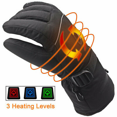 1Pair Electric Heated Glove 4.5V Rechargeable Temperature Control Winter Mitten