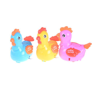 Cute Plastic Laying Eggs Chicken Duck Wind Up Walking Toys Kids Clockwork Toys